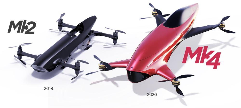 Coches eléctricos voladores Airspeed
