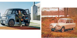 Más de medio siglo separa al Ami de 1961 y al actual Ami eléctrico, pero comparten más que el nombre.