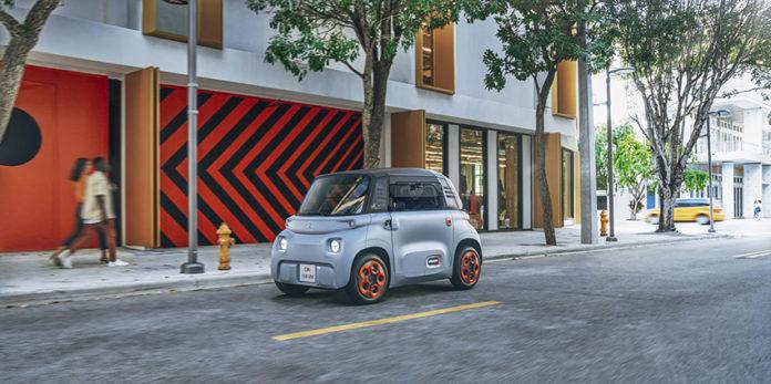 El pequeño e innovador Citroën Ami eléctrico.