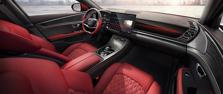 Interior del vehículo premium.