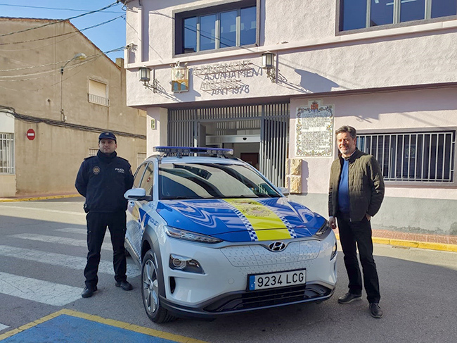 Kona eléctrico entre las flotas policiales valencianas.