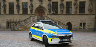 Las fuerzas policiales de Osnabrück (Alemania) ya cuentan con un Hyundai NEXO.