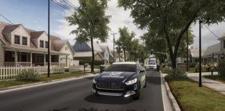 Simulación para probar el software de vehículos autónomos de Oxbotica.