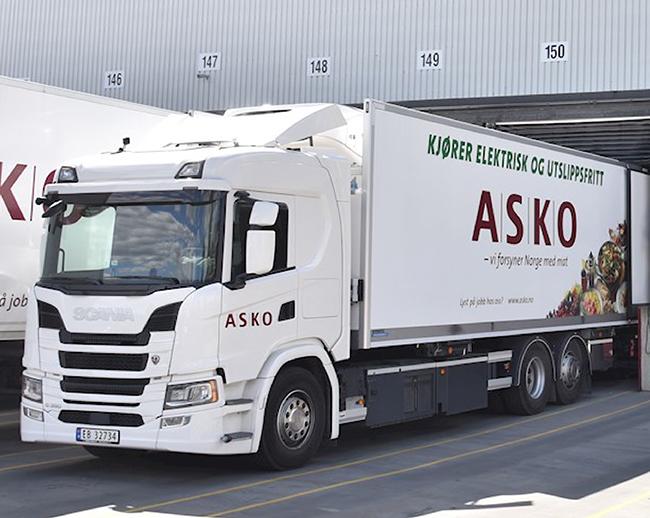 ASKO es el mayor distribuidor noruego de alimentos. Su flota está compuesta por 600 camiones.