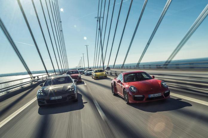 Flota de Porsche, la marca que acapara una mayoría de los sueños de los propietarios de coches en UK.