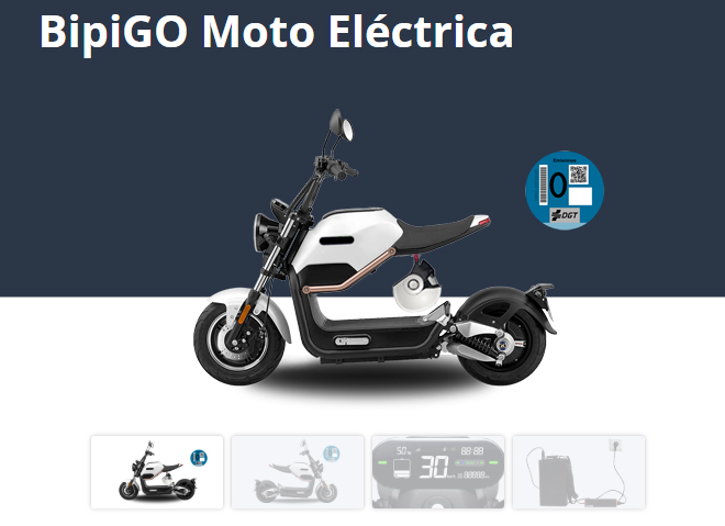 Una de las motos eléctricas que ofrece la compañía.