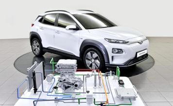 El sistema de bomba de calor de Hyundai en el Kona EV.