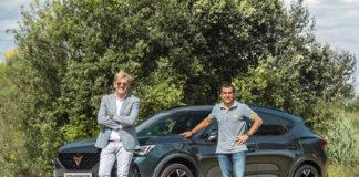 Wayne Griffiths, CEO de CUPRA. y el piloto Jordi Jané, han sido los encargados de las pruebas del Formentor.