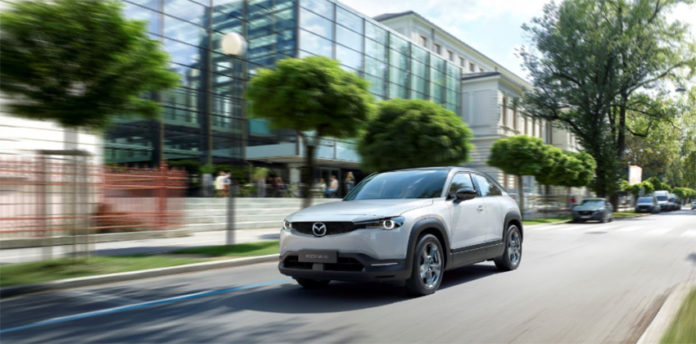 MX-30, el nuevo SUV y primer vehículo eléctrico de Mazda.