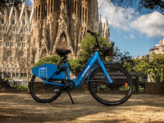 Nuevo servicio de bicicletas eléctricas y compartidas de Cooltra en Barcelona.