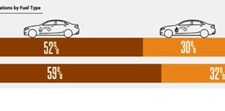 Cuota de mercado según tipo de combustible.