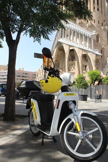 Los scooters eléctricos de Gecco son de fabricación europea y alcanzan 45 km/h.