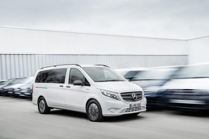 Nueva Mercedes eVito Tourer para el transporte de hasta 9 personas.