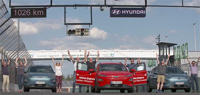 Las pruebas realizadas con los tres Hyundai KONA ELéctrico fueron un éxito.