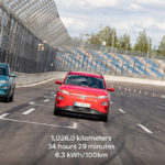 Los tres Hyundai KONA Eléctrico de la prueba superaron la autonomía de 1.000 km con una sola carga.