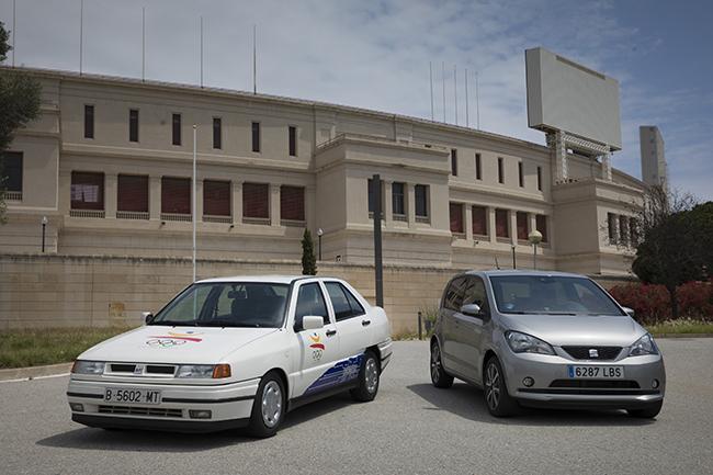 SEAT Toledo eléctrico y SEAT Mii electric en Montjuic.