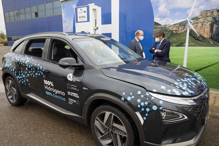 La Fundación Hidrógeno Aragón ha recibido el NEXO en el Parque Tecnológico Walqa de Huesca.