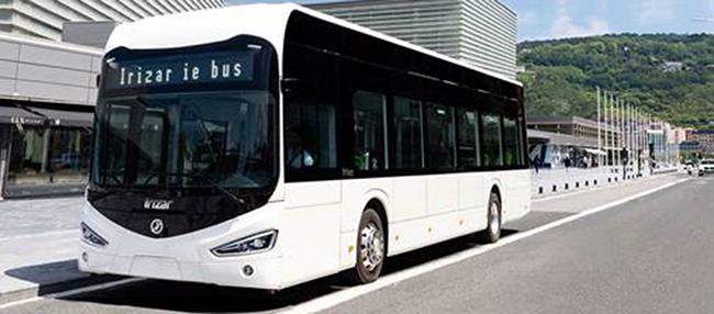 Los autobuses son del modelo ie bus de 12 metros de longitud.
