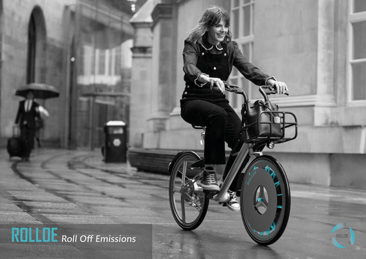 La rueda de bicicleta que descontamina el aire