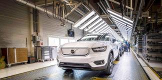 Comienza la producción del Volvo XC40 Recharge eléctrico.