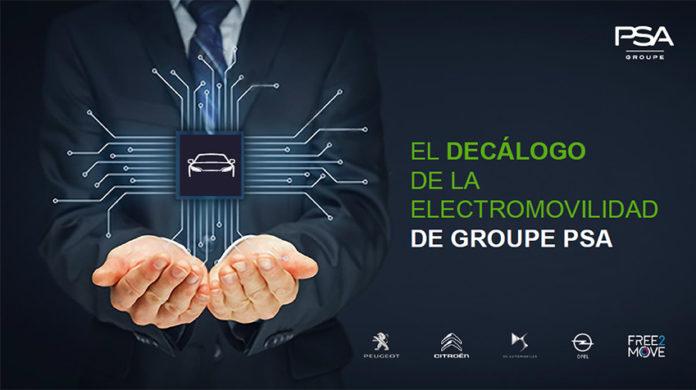 Decálogo de Electromovilidad del Grupo PSA.