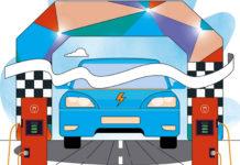 Informe sobre vehículos eléctricos y el cumplimiento de las normas europeas de emisiones de los fabricantes de automóviles. Ilustraciones: Transport & Environment.