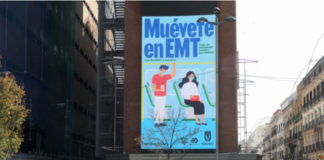 'Muévete en EMT, la campaña para fomentar el uso del transporte público en Madrid.