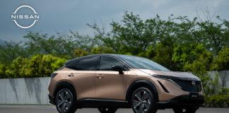 5 unidades del nuevo crossover eléctrico de Nissan, el Ariya, llegan a Barcelona.