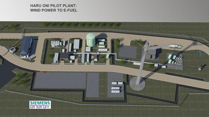 Haru Oni, la planta de fabricación de combustibles sintéticos ecológicos.