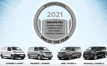 """Premio """"International Van Of The Year 2021"""" para las furgonetas eléctricas de PSA."""