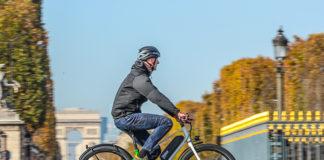 El sistema integrado en una bicicleta urbana.