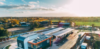 La estación de servicio de Essex, UK, exclusiva para vehículos eléctricos.