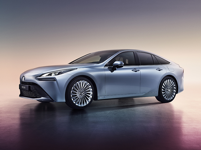 Segunda generación del Toyota Mirai de hidrógeno.