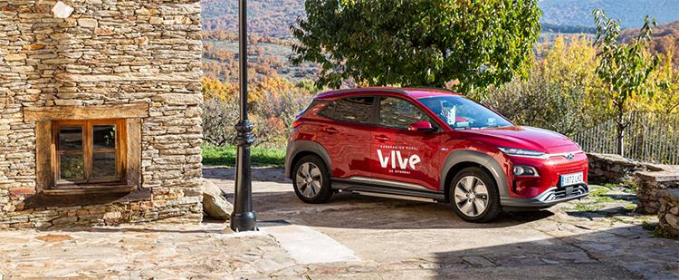 KONA Eléctrico para el carsharing rural VIVe.