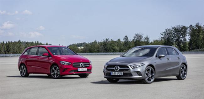 Mercedes  Clase A y Clase B híbridos enchufables.