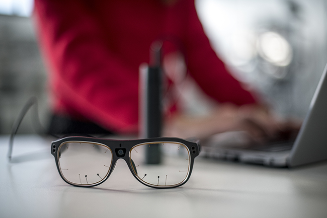Eye-Tracker, las gafas que se utilizarán en las pruebas.