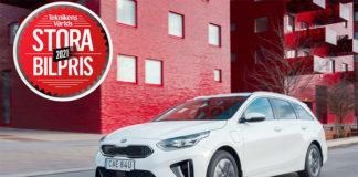 Kia Ceed Sportswagon Plug-In Hybrid , ganador del premio sueco Teknikens Värld 'Stora Bilpris' 2021.