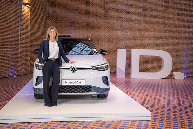Laura Ros, directora general de Volkswagen España, durante la presentación del SUV.
