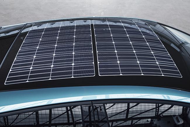 Techo con paneles solares.
