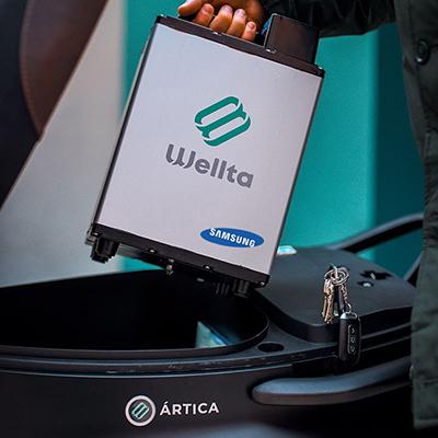 Batería extraíble Samsung que incorporan ambos modelos.