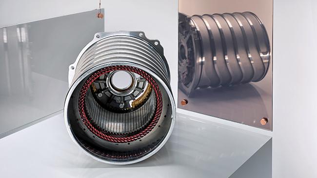 Estátor. Motor eléctrico de Porsche.