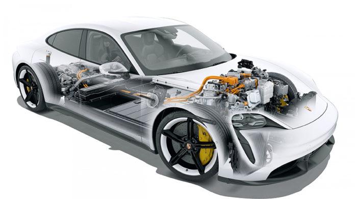 Motor eléctrico PSM del Porsche Taycan.