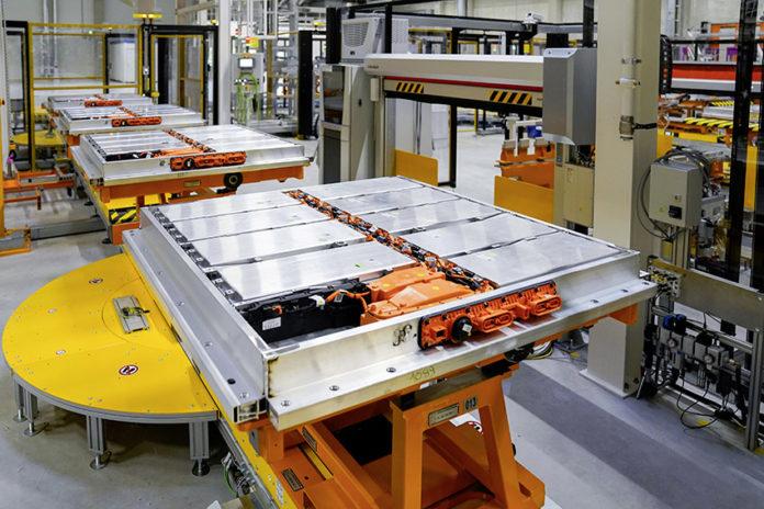 Producción de sistemas de baterías para los ID.3 and ID.4 en Braunschweig.