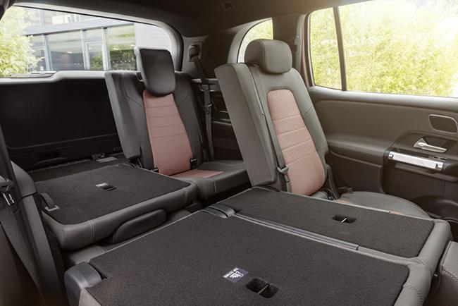 Mercedes EQB: hasta 7 plazas en tres filas de asientos.