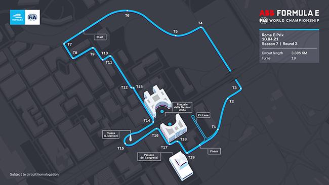Circuito renovado de Roma.