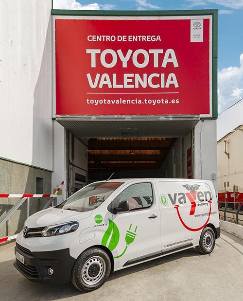 Entrega de la Toyota Proace Electric Van a Vayven Delivery