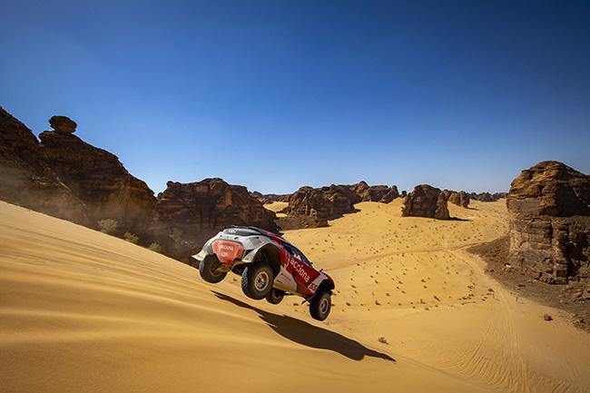 Al-Ula, Arabia Saudí: Laia Sanz/Carlos Sainz (ESP), Acciona | Sainz XE Team. (Photo by Colin McMaster / LAT Images).