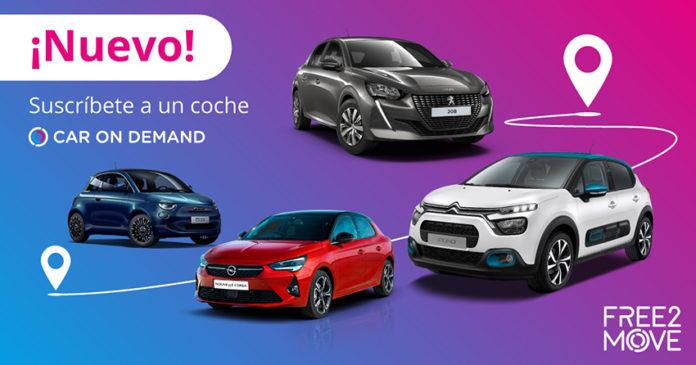 El nuevo servicio de Free2Move: Car on Demand.