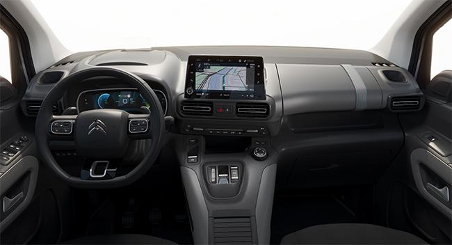 Interior del Citroën ë-Berlingo.