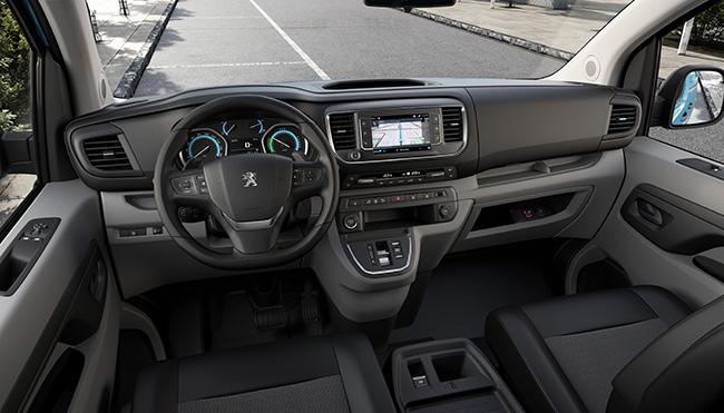 Interior del Peugeot e-Expert Hydrogen
